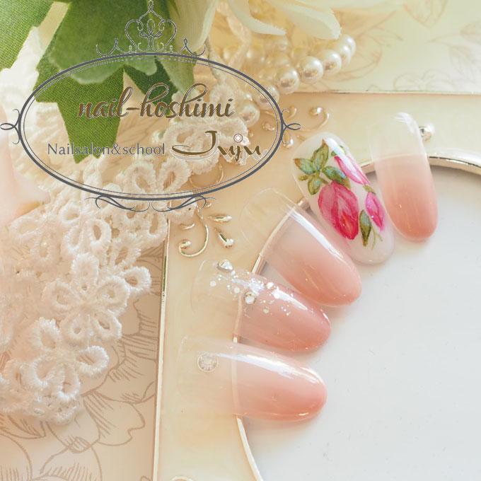 水彩つぼみネイル