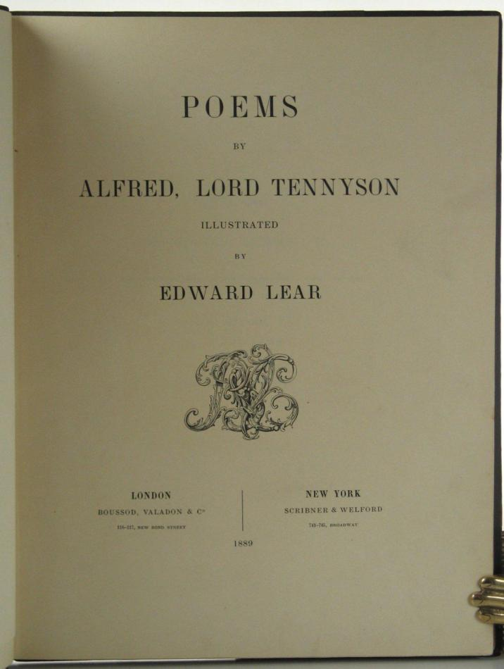 Edward Lear and Lord Tennyson