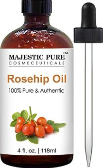 Pure and Natural Rosehip Oil for Face & Nails Premium Rose Hip Seed Oil by Majestic Pure