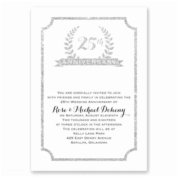 25th Wedding Anniversary Invitation Cards