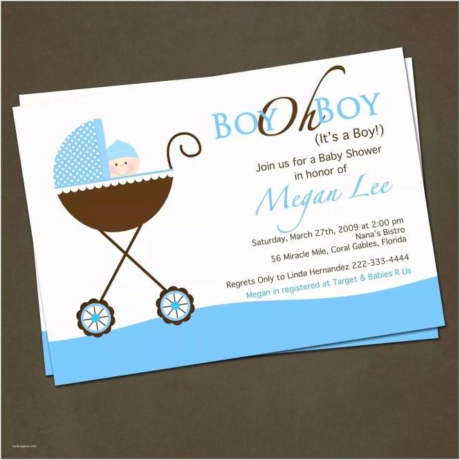 Baby Shower Invitations For Boys Boy Invitation