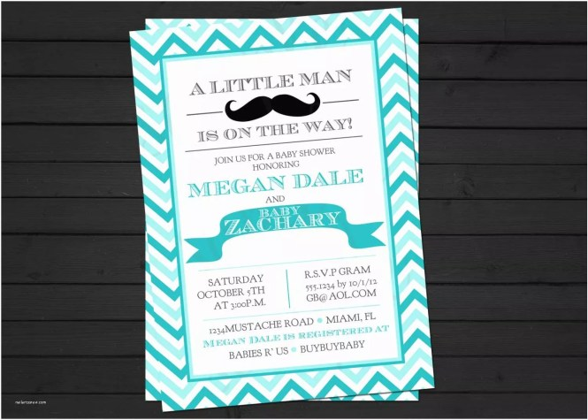 Mustache Baby Shower Invitations