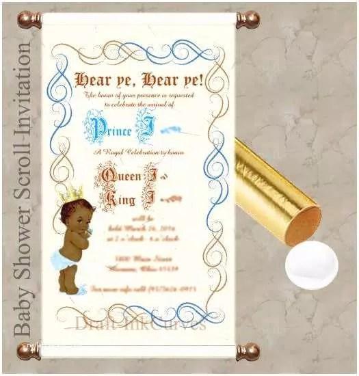 Scroll Baby Shower Invitations
