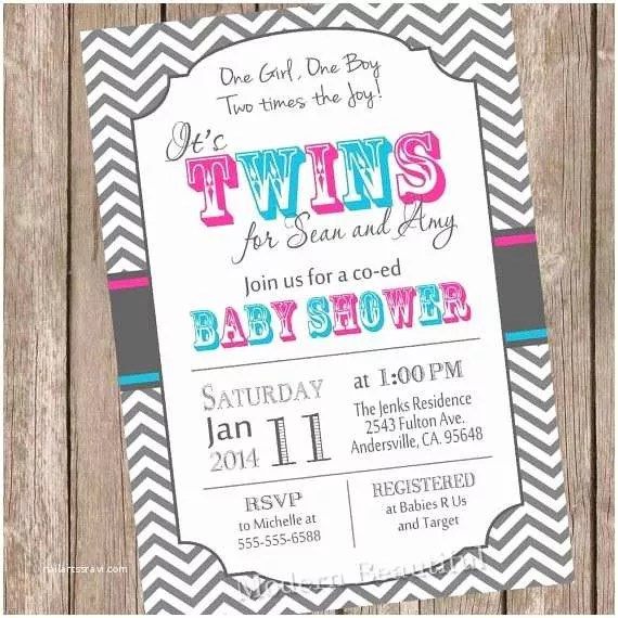 Twins Baby Shower Invitations Best 25