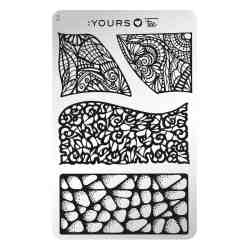 YOURS Stamping Plates Language of Lace 8719925720291