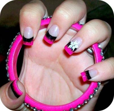 Hot Pink And Black Nail Designs Full Hd Maps Locations Another