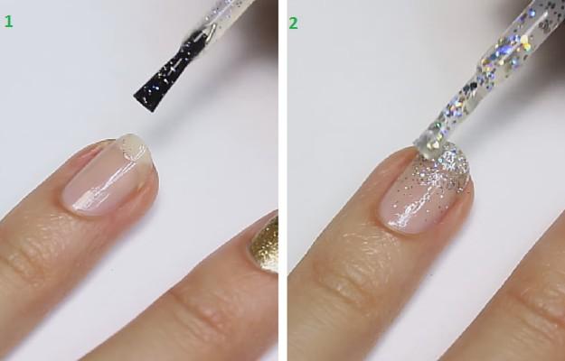 Prev Next Glitter Nails Mackup Tutorial For Nail Art Fans Easy Quick Design