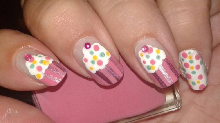 Cute 3d Cupcake Nail Art Even Las Want Designs Tutorial