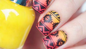 Tutorial Summer Nail Art My Oh Matte Palm Tree Nail Design Nail Designs
