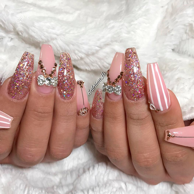 coffin nails design ideas 13 Fashion Go