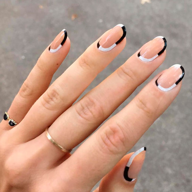 Easy And Cute Black White Nails Ideas Picture 3