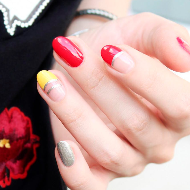 Colored French Tip Nail Designs Picture 3