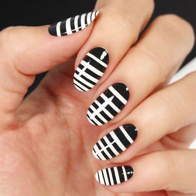 Easy Nail Art Designs Using Stripes