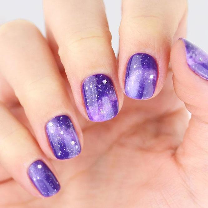 Hypnotic Galaxy Nail Art