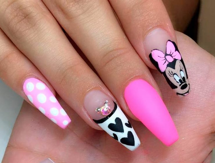 Mickey Mouse Nail Art Designs