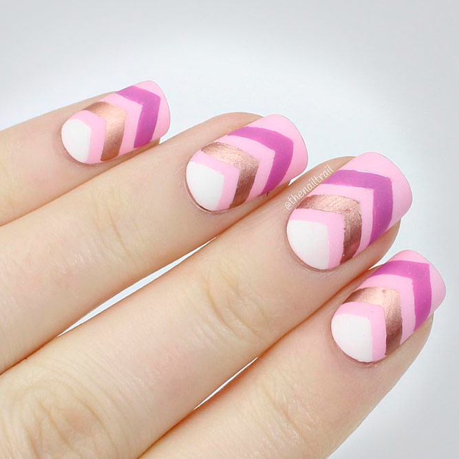 Stylish Ideas For Rose Gold Nail Designs picture 1