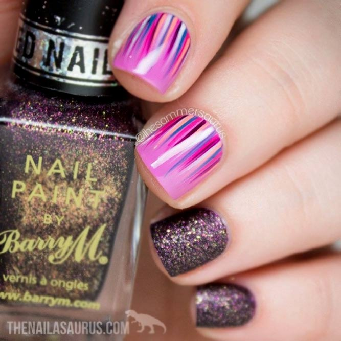 Pink Color With Glitter Accents