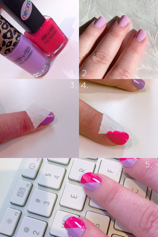 Diy Nail Art 2 With Scotch Tape