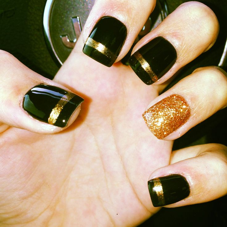 Black And Gold Nail Designs 8 Simple You Can Do Yourself