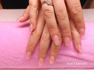 Natural almond shaped acrylics