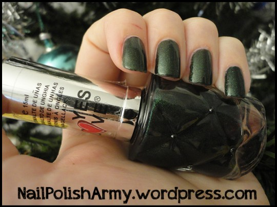 Nail-polish-esmalte-nagellack-yes-love-forest-green-microglitter