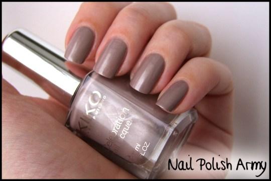 Kiko-celebration-nail-lacquer-colours-in-the-world-smalto-426-satin-taupe-swatches
