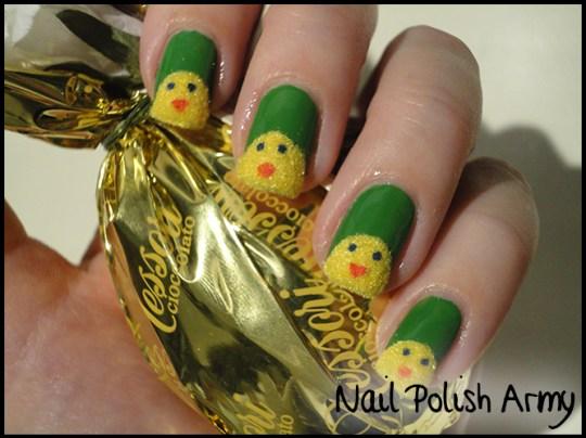 Easter-nail-art-pasqua-chicks-pulcini-flocking-powder-6