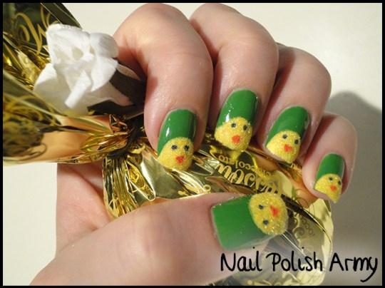 Easter-nail-art-pasqua-chicks-pulcini-flocking-powder2