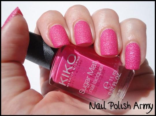 Kiko-sugar-mat-642-fucsia-hot-pink-swatches