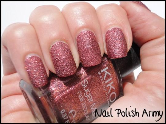 Kiko-sugar-mat-645-bordeaux-burgundy-swatch-rough-liquid-sand-effect