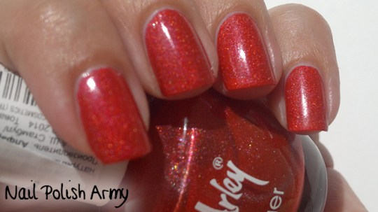 Catherine Arley holographic nail polish 800 linear red smalto rosso olografico