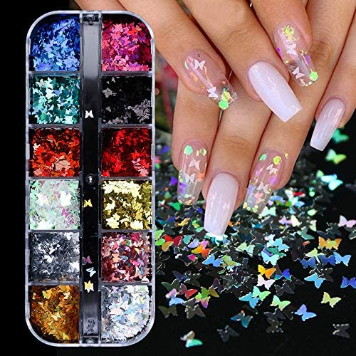 Butterfly Glitter Nail Sequins
