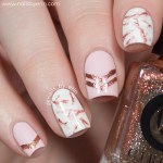 Pink And Gold Marble Nails Nail And Manicure Trends