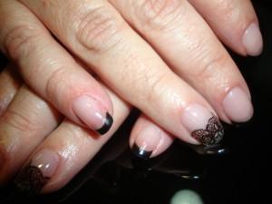Nail Art de encaje en Nails Coruña