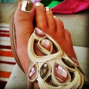 Pedicura Gold Minx Nails Coruña