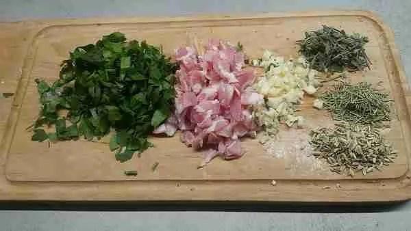 Ahjukana Pancetta ja fenkoliga