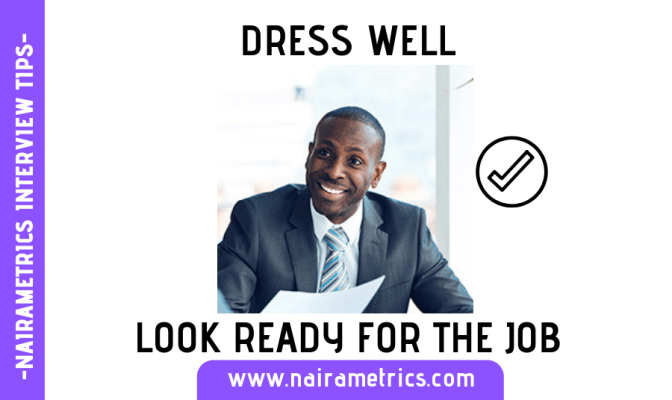 DRESS FOR INTERVIEW