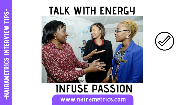 INTERVIEW TIPS AND PASSION