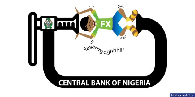 Forex forwards sold by the CBN since July 2016