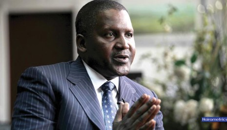 How to calculate Dangote's networth