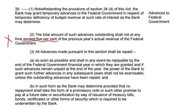 Law against lending higher than 5%