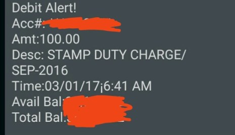 Are Banks Allowed To Charge Stamp Duty On Savings Account?