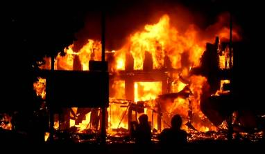 A former Minister's hotel has been burned down by hoodlums in Kaduna state