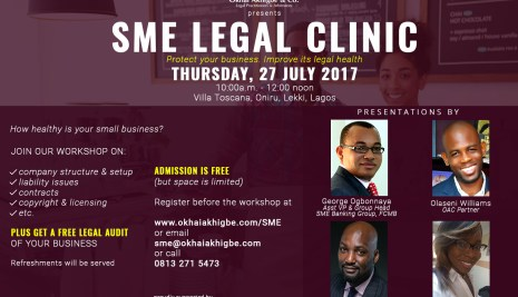 This free 'legal clinic' for Startups and SMEs is holding in Lagos Soon