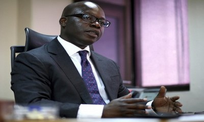 Oando Plc CEO Tinubu speaks during a Reuters interview in Lagos