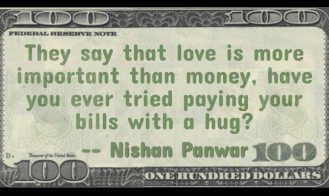 Money and love, salary