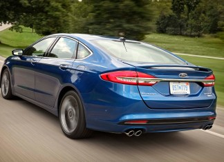 2017 Ford Fusion Sport 3/4 Rear View