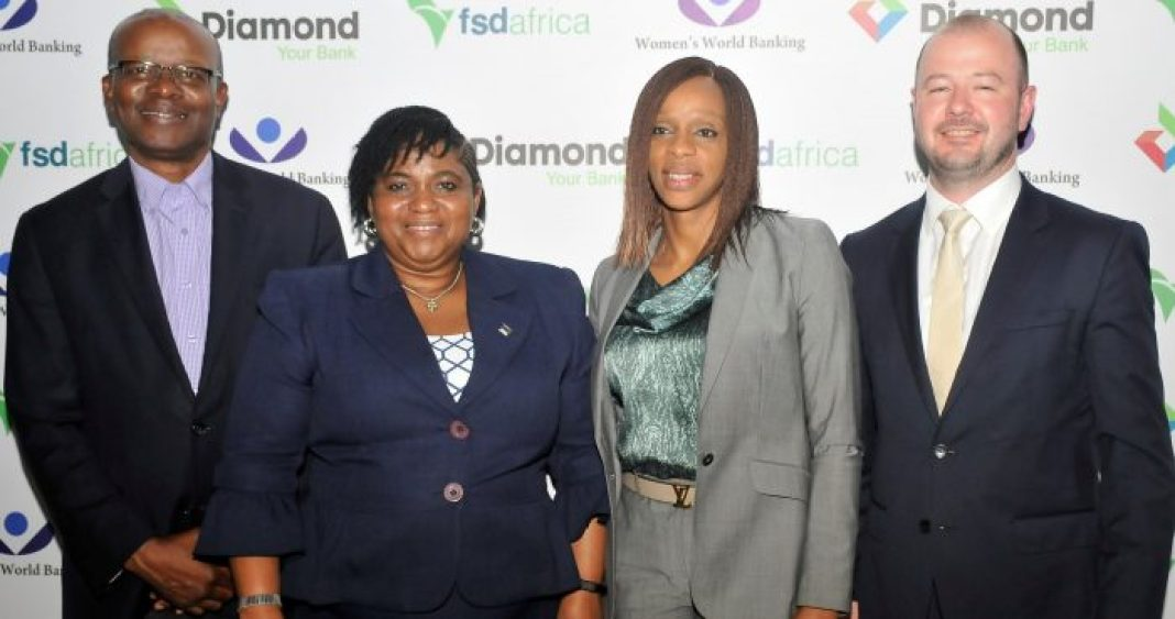 L - R: Vincent Rague, Chairman, FSD, Africa; Caroline Anyanwu, Deputy Managing Director, Diamond Bank Plc; Chizoma Okoli, Executive Director, Diamond Bank Plc; and Mike Foster, Senior Advisor, Investment & Finance, FSD at a Dinner hosted by Diamond Bank Plc in Lagos recently.