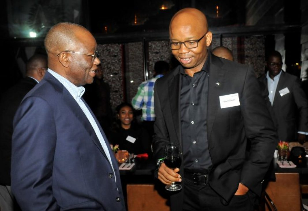 L – R : Sola Oyinlola, Board Member, all of Financial Sector Development Africa (FSD); and Uzoma Dozie, CEO, Diamond Bank Plc at a Dinner hosted by Diamond Bank Plc in Lagos recently.
