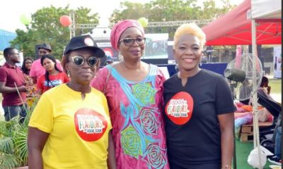Yewande Zaccheaus, CEO, Eventful Limited; Ibukun Awosika, Chairman, First Bank of Nigeria Limited and Tiyan Alile, Founder and Promoter of Culinary Academy at Fiesta of Flavours, the food festival event organised by Eventful Limited and sponsored by FirstBank.